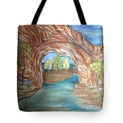 Through The Rock Window Tote Bag
