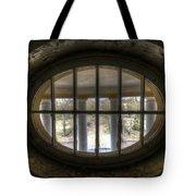 Through The Round Window Tote Bag