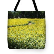 Through The Sunflowers Tote Bag