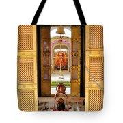 Through The Temple Doors India Tote Bag