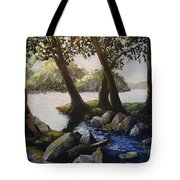 Through The Trees Tote Bag by Don Perino