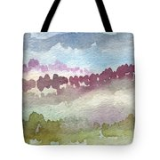 Through The Trees Tote Bag by Linda Woods