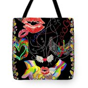 Throwing Kisses And I Love Yous Tote Bag