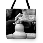 Throwing On The Pottery Wheel Tote Bag