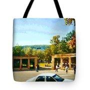 Thru Roddick Gates Your Future Awaits Mcgill University Paintings Montreal Art Carole Spandau Tote Bag