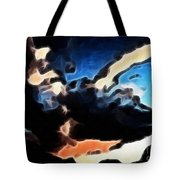 Thunder Clouds Expressive Brushstrokes Tote Bag