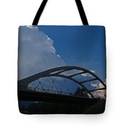Thunder Over The Rogue River Bridge Tote Bag