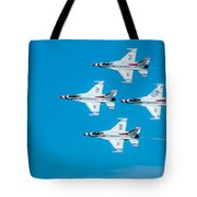 Thunderbird In Formation  Tote Bag