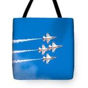 Thunderbirds And Blue Sky  Tote Bag