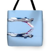 Thunderbirds In A Dangerous Formation Tote Bag