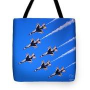 Thunderbirds Jet Team Flying Fast Tote Bag