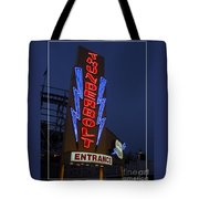 Thunderbolt Rollercoaster Neon Sign Tote Bag