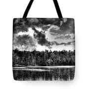 Thunderclouds Over Cary Lake Tote Bag by David Patterson