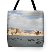 Thunderstorm Atmosphere Over Lake Powell Tote Bag