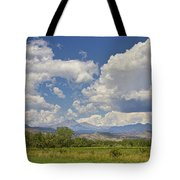 Thunderstorm Clouds Boiling Over The Colorado Rocky Mountains Tote Bag