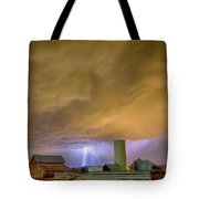 Thunderstorm Hunkering Down On The Farm Tote Bag