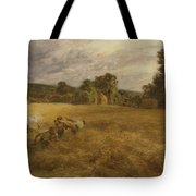 Thunderstorm In The Harvest Tote Bag