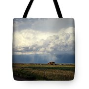 Thunderstorm On The Plains Tote Bag