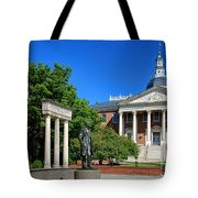 Thurgood Marshall Memorial And Maryland State House Tote Bag