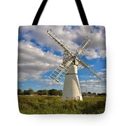 Thurne Dyke Windpump On The Norfolk Broads Tote Bag