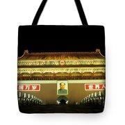 Tiananmen Gate At Night Beijing China Tote Bag