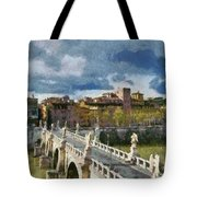 Tiber River In Rome Tote Bag