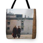 Tibet Monks 6 Tote Bag