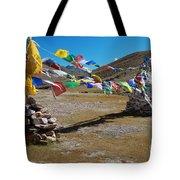 Tibetan Buddhist Prayer Flags Tote Bag