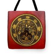 Tibetan Door Knocker Tote Bag