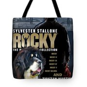 Tibetan Mastiff Art Canvas Print - Rocky Movie Poster Tote Bag