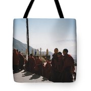 Tibetan Monks 2 Tote Bag