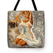 Tibetan Spaniel Art - Una Parisienne Tote Bag