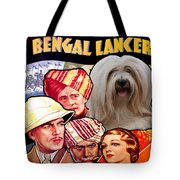 Tibetan Terrier Art - The Lives Of A Bengal Lancer Movie Poster Tote Bag