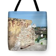 Tiburon And Basketball Court At The Top Of The Fort Wall Tote Bag