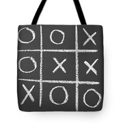 Tic-tac-toe On A Chalkboard Tote Bag