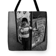 Ticket Booth Traveling Carnival Us Mexico Border Naco Sonora Mexico 1980 Tote Bag