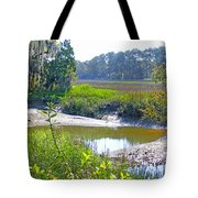 Tidal Creek In The Savannah Tote Bag