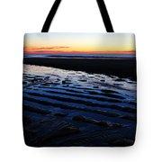 Tidal Ripples At Sunrise Tote Bag by James Kirkikis