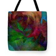 Tie Dye Rose Tote Bag