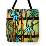 Stained Glass Tiffany Bamboo Panel Tote Bag