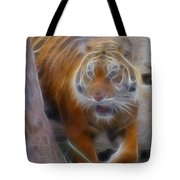 Tiger-5362-fractal Tote Bag