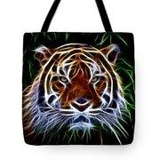 Tiger Abstact Art Tote Bag
