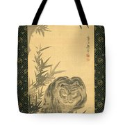 Tiger And Bamboo Tote Bag
