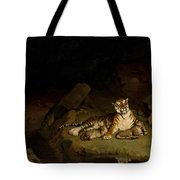 Tiger And Cubs Tote Bag