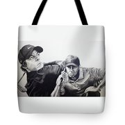 Tiger And Rory Tote Bag by Jake Stapleton
