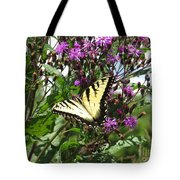 Tiger Butterfly Tote Bag