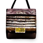 Tiger Country - Purple And Old Tote Bag by Scott Pellegrin