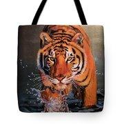 Tiger Crossing Water Tote Bag