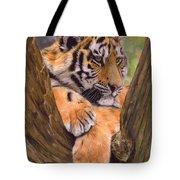 Tiger Cub Painting Tote Bag