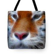 Tiger Face Fractal Tote Bag